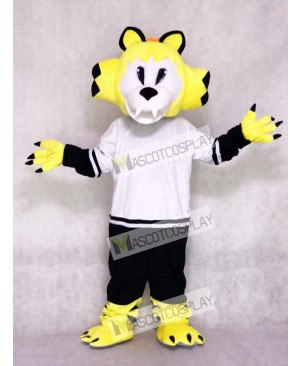 Nashville Predators Ice Hockey Team Mascot Costume Yellow Saber-toothed Cat