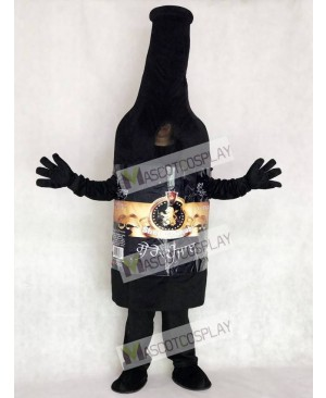 Black Vodka Wine Bottle Mascot Costume Party