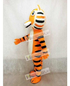 Cute Yellow India Tiger Mascot Costume
