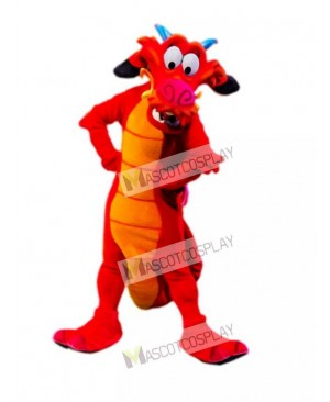 Red Legendary Dragon Mascot Costume