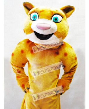 Cute Yellow Leopard Mascot Costume