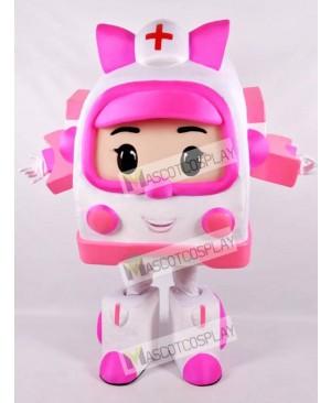 Pink Robotic Car Mascot Costume Cartoon