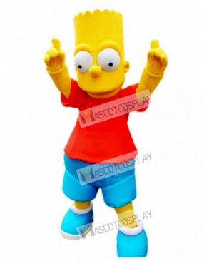Bart Simpson Son Yellow Boy Mascot Adult Costume