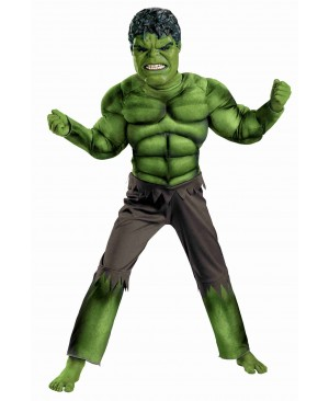Boys Hulk Muscle Cosplay Clothing Kids Avengers Superhero Movie Role Play Party Halloween Purim Costumes