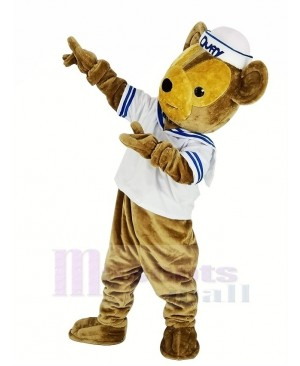 Duffy the Sailor Bear with White T-shirt Mascot Costume Animal