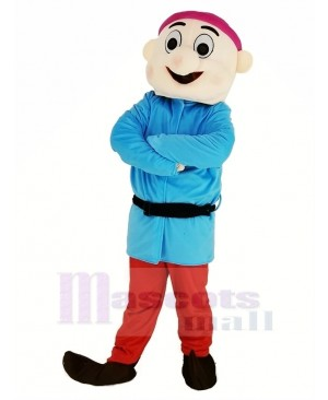 Dwarfs with Blue Coat Mascot Costume