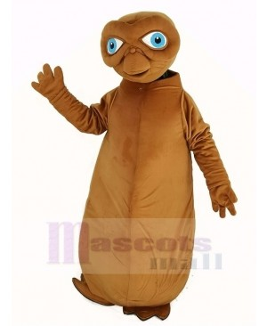 E.T. Alien Mascot Costume Brown Color
