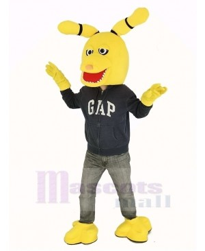 FNAF Five Nights At Freddy's Yellow Bonnie the Bunny Mascot Costume Head Only