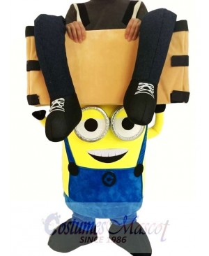 Piggyback Despicable Me Minions Carry Me Ride in Two Eyes Minions Mascot Costume