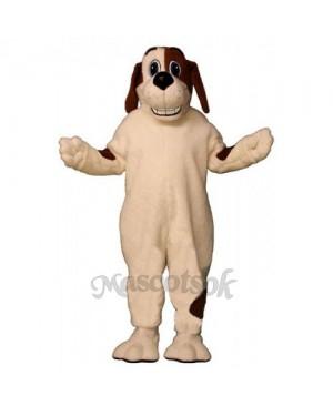 Cute Grinning Hound Dog Mascot Costume