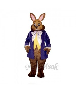 Easter Mr. Brown Bunny Mascot Costume