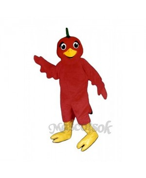 Cute Lil Red Bird Mascot Costume