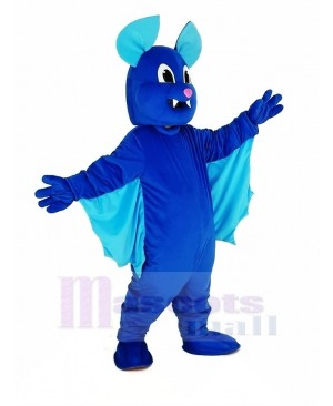 Blue Flying Bat Mascot Costume Animal