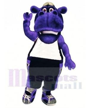 College Hippo Mascot Costume