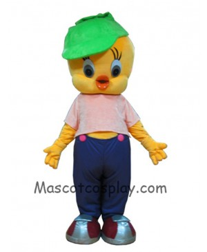 High Quality Realistic New Little Yellow Bird Lovely Tweety Bird Mascot Costume Cartoon Costume