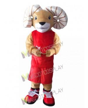Red Ram Mascot Costume Mascot Costume