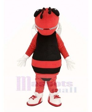 Red and Black Hornet Bee Mascot Costume Insect