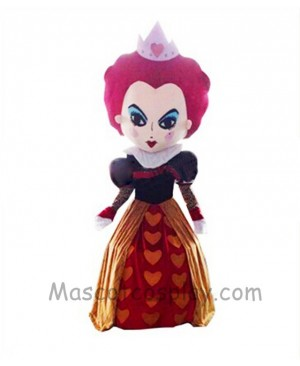 Alice In Wonderland Red Queen Mascot Halloween Mascot