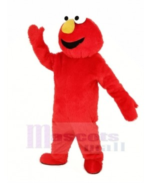 Red Haired Monster Elmo Mascot Costume Cartoon