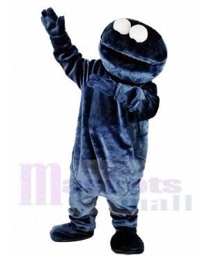 Sesame Street Dark Blue Cookie Monster Elmo Mascot Costume Cartoon