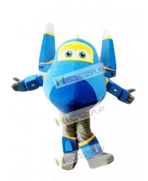 Blue Fighter Jet Jerome Super Wings Mascot Costume