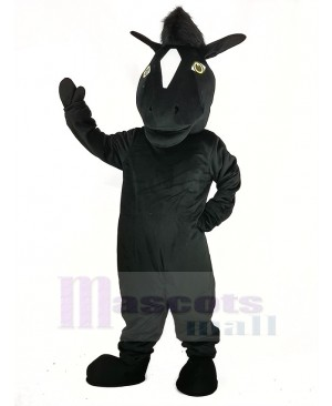 Black Mustang Horse Mascot Costume Animal