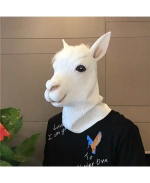 Novelty Halloween Costume Party  Latex Animal Head Mask Alpaca