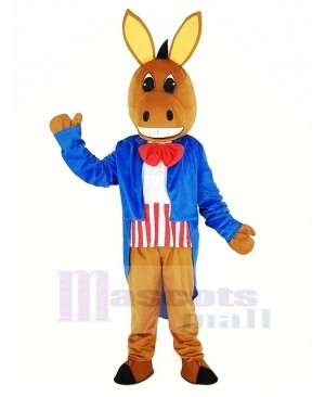 Patriotic Donkey Mascot Costume Animal