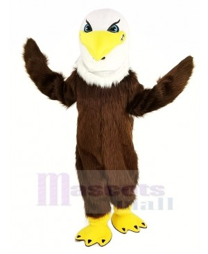 Fierce Brown Eagle Long Hair Mascot Costume Animal