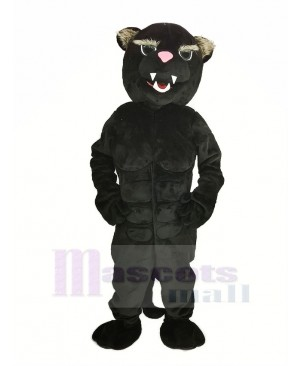 Black Muscle Panther Mascot Costume