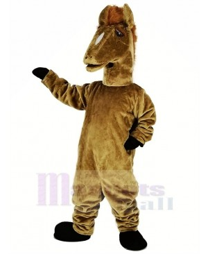 Brown Mustang Mascot Costume Animal