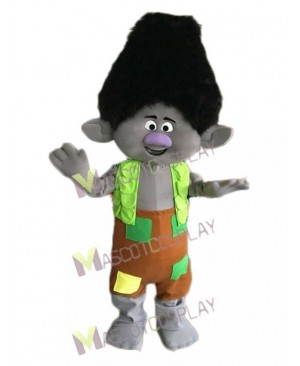 Trolls Branch Boy Mascot Costume Cartoon Boy Mascot Costume