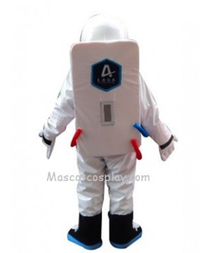 Astronaut Space Suit with Backpack Mascot Costume Fancy Dress Outfit