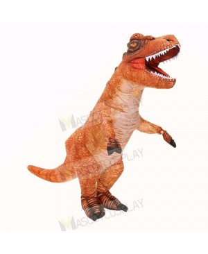 Brown Tyrannosaurus T-Rex Dinosaur Inflatable Costume Halloween Xmas for Adult