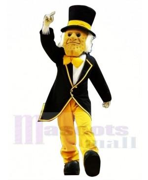 Gentleman with Hat Mascot Costume