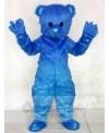 Cute Blue Fluffy Bear Mascot Costumes Animal