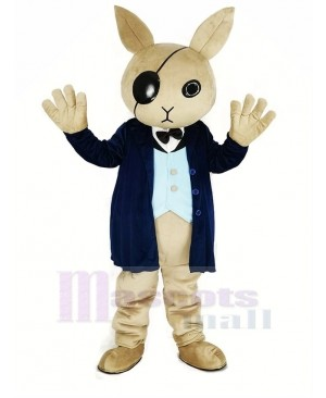 Cool Rabbit Butler Mascot Costume