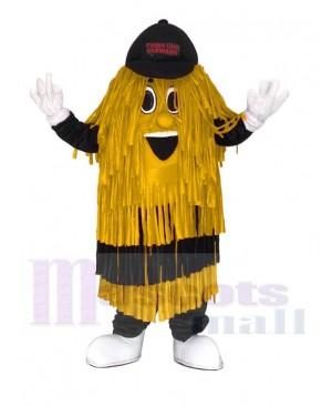 Golden Car Wash Cleaning Brush Mascot Costume