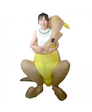 Kangaroo Hug me Inflatable Costume Halloween Christmas Costume for Adult
