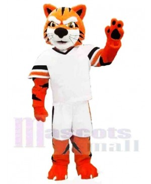 Sporty Powerful Tiger Mascot Costume