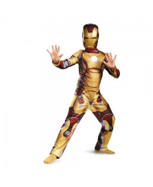 Kids Avengers Iron Man Mark 42 / Patriot Muscle Child Halloween Costume Boys Marvel Movie Superhero Cosplay