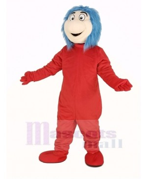 Thing One from The Cat in the Hat Book Mascot Costume
