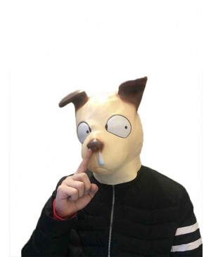 Latex Cartoon Snotty Dog Mask Full Head Animal Mask Cosplay Masquerade