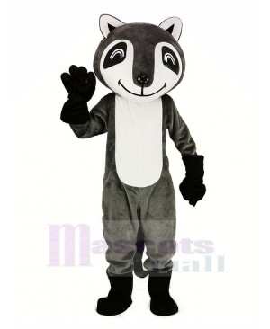 Gray Raccoon Mascot Costume Animal