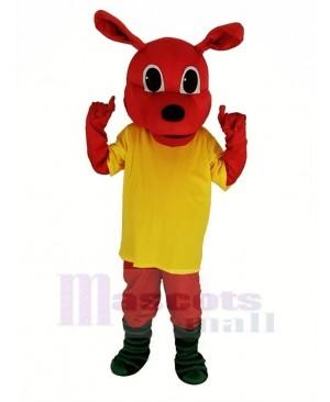 Red Kangaroo with Yellow T-shirt Mascot Costume Animal