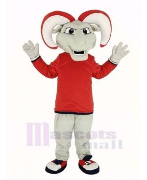 Ram with Red Coat Mascot Costume Animal