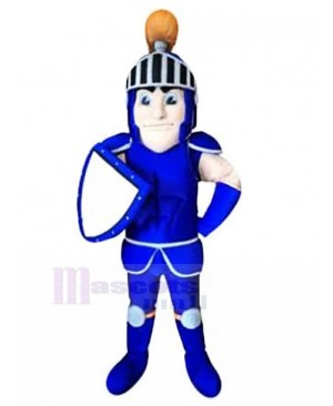 Blue Gladiator Knight Mascot Costume People
