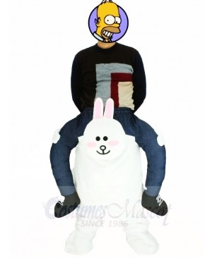 Piggyback Line Town Friends Cony Carry Me Ride on Rabbit Bunny Mascot Costumes