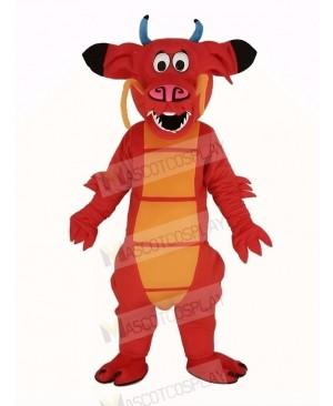 Red Legendary Dragon Mascot Costume Animal