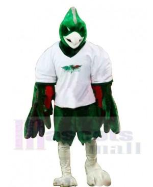 Sporty Green Phoenix Mascot Costume